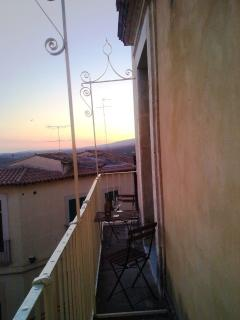 Your balcony at the sunset furnished to enjoy a good cool wine