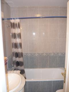 Main bathroom with shower facility.