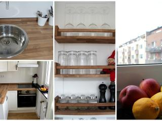 Sunny, fully equipped, separate kitchen
