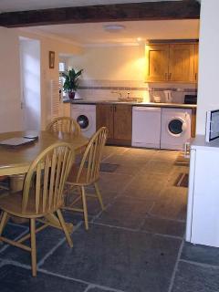Traditional slate floor kitchen