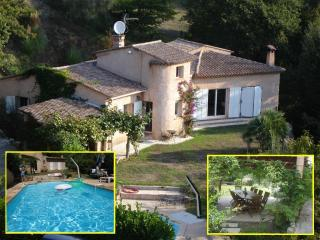 Villa 'Luna Gauda',  quiet with pool near sea, La Gaude