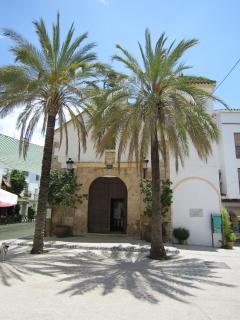 The village square and the Iglesia Nuestra Sra de la Encarnacion