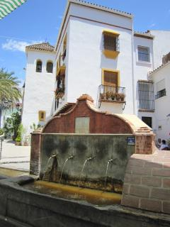 This fountain in the main square supplies drinking water from local springs