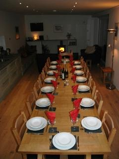 East wing dining table