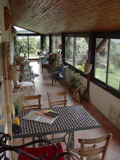 Spacious veranda with stunning views