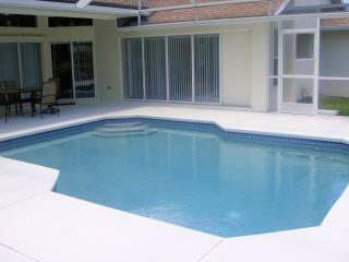 The heated pool and deck