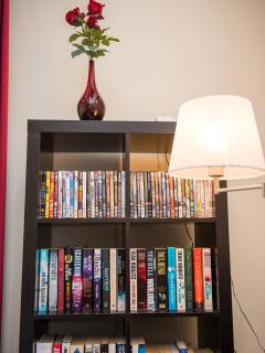 Livingroom, bookcase and dvd collection