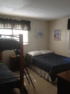 Unit #2 Second Bedroom (full bed and a set of bunk beds)