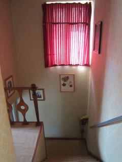 scale che portano alle camere