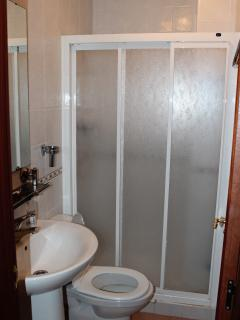 Bathroom 2 - shower, sink, toilet