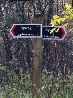Signposts point the way around the many walks right outside Green Farm Barn