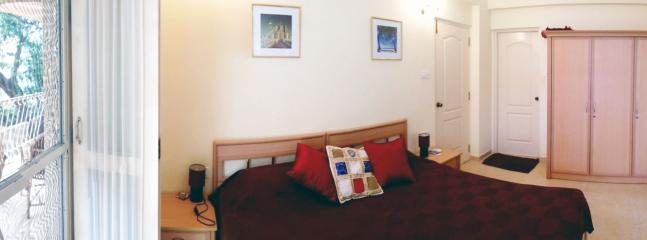bedroom panorama, enlarge to see whole photo