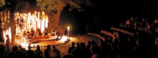 The open-air private amphitheatre is available for private events
