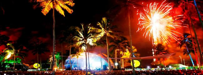 nightly shows and live entertainment on the beaches of Porto Seguro
