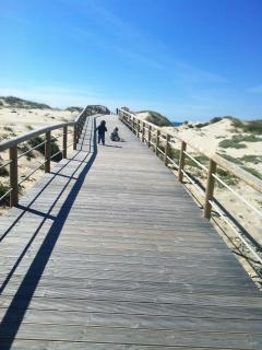 Boardwalk to the beach at Praia D'El Rey