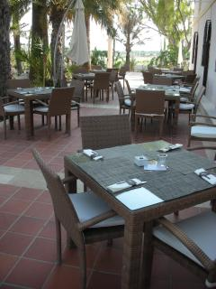 Dining area outside Hacienda