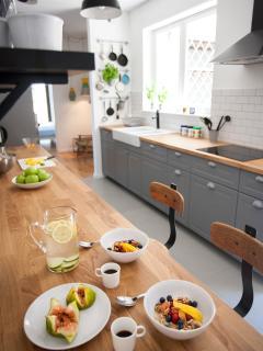 Breakfast or brunch in the kitchen