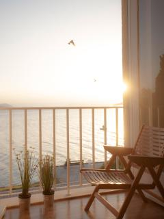 Sunset with a sea view from the master bedroom