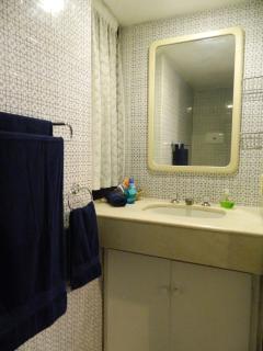 Bathroom en suite for single bed bedroom