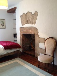 feature fireplace in the bedroom