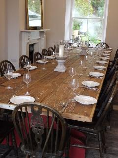 Dining table for 20 persons