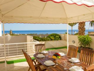 Nice outdoor dining facility overlooking stunning views of St.Julians town