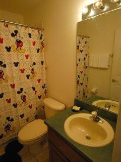 Mickey bathroom, between princes and boys room, 2nd floor