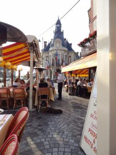 The town hall in Trouville,great places to eat,lots of fresh fish from the fish market opposite
