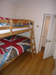 Third bedroom with bunk beds, suitable for adults and kids