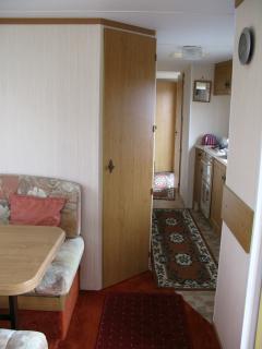 Galley Kitchen is off lounge/dining area and leads to shower room, separate WC and bedrooms