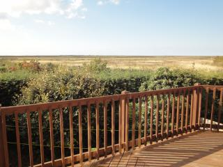 View from the terrace towards Blakeney Point.