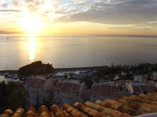 Balcony evening view of marina