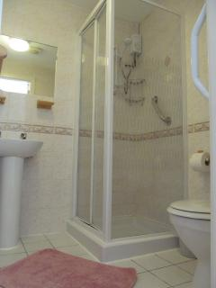 Shower room in double bedroom