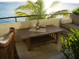 Main balcony overlooking the Caribean Sea
