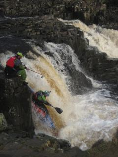 Canoeing at Low Force Waterfall