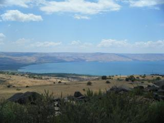 View of the Sea of Galilee from our Galilee home