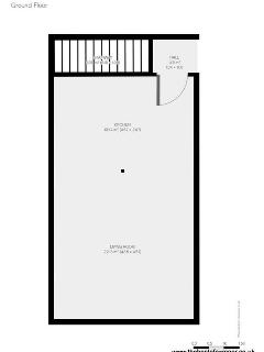 Downstairs floor plan for Riverside Cottage