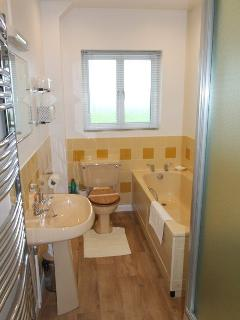 The Bramleys Bathroom with bath and separate shower cubicle