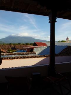 View of Mombacho Volcano From Upstairs Terrace