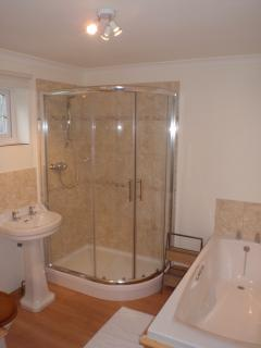 Bathroom/Shower room - Walk-in shower with Mira Excel mixer unit.
