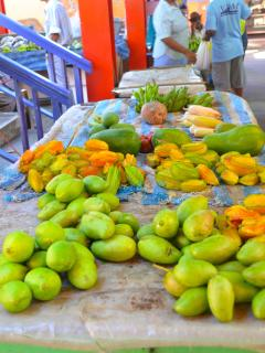 Shop for fresh tropical fruits at nearby Victoria Market.