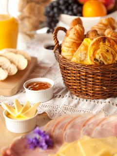 Fresh French Breakfast prepared by Marmotte Mountain exclusive chefs