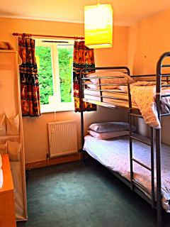 Bunk beds!  Like the single/twin room next door it shares the cloaks, WC and wash hand basin
