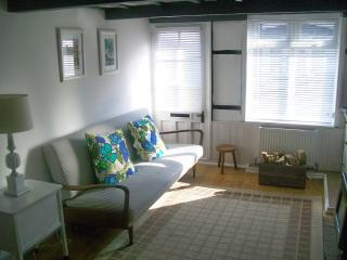 Lounge with vintage Ercol sofa