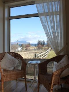 Enjoy a coffee and take in the views in our sun porch
