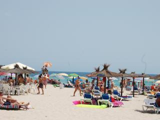 The nearest beach 15 minutes walk away