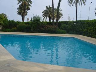 Menton, French Riviera sea view, pool and parking