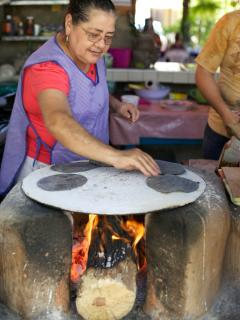 Dona Celia's purple tortillas in Pantla