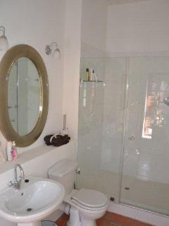 bathroom en suite to bedroom 1 downstairs