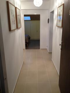 Large hallway with underfloor heating